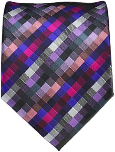 Purple Checkered Necktie