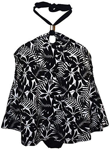 361bd18983316 Simply Fit Women's Plus Size Halter Tankini Bikini Swimsuit Set (22/24,  Black White)