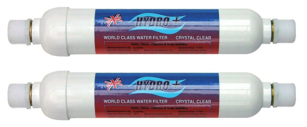 2 x Hydro+ H11MC Water Filter For Coffee, Vending Machines & Water Boilers - Has 3/4 BSP Male Fittings To Connect To Washing Machine Type Hosing- The ...