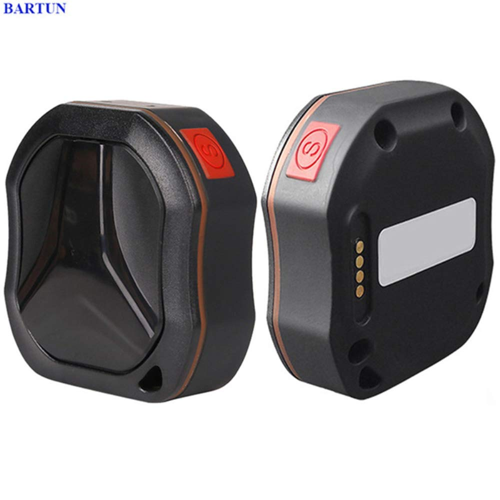 HUAXING GPS Tracker,GSM GPRS GPS Pet Safety Tracker 1000 mAh USB Cable Rechargeable, for Car Cats Pets.