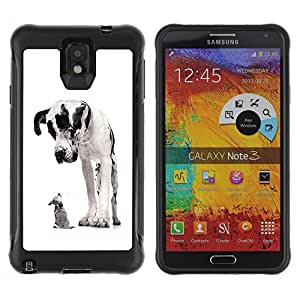 BullDog Case@ Great Dane Chihuahua Black Spots Dogs Rugged Hybrid Armor Slim Protection Case Cover Shell For Note 3 Case ,N9000 Leather Case ,Leather for Note 3 ,Case for Note 3 ,Note 3 case