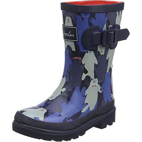 Joules Youth Black Multi Bear Camo Wellington Boots-UK 12 Kids ()