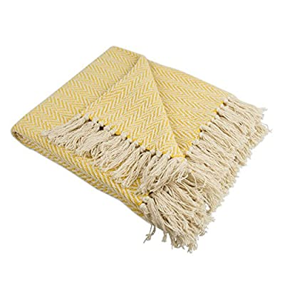 "DII Rustic Farmhouse Cotton Chevron Blanket Throw with Fringe For Chair, Couch, Picnic, Camping, Beach, & Everyday Use , 50 x 60"" - Mini Chevron Marigold - CONSTRUCTION - Throw measures 50 x 60"" 100% Cotton QUALITY IN THE DETAILS - Old-fashioned look with a modern twist with decorative fringe for the perfect finish that won't unravel in the wash FITS THE RUSTIC VINTAGE OR DISTRESSED LOOK - This throw has a very chic and trendy look throw over a couch or chair to add a splash of color and provide warmth on a cold night - blankets-throws, bedroom-sheets-comforters, bedroom - 51fgWEyaACL. SS400  -"