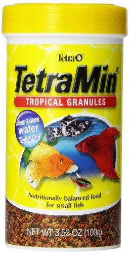 Fish Mini Pellets - Tetra TetraMin Tropical Granules, 3.52-Ounce, 250-Ml