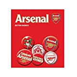 Football Gifts - Arsenal Fc Gift Ideas - Official Arsenal Fc Button Badge Set - A Great Present For Football Fans
