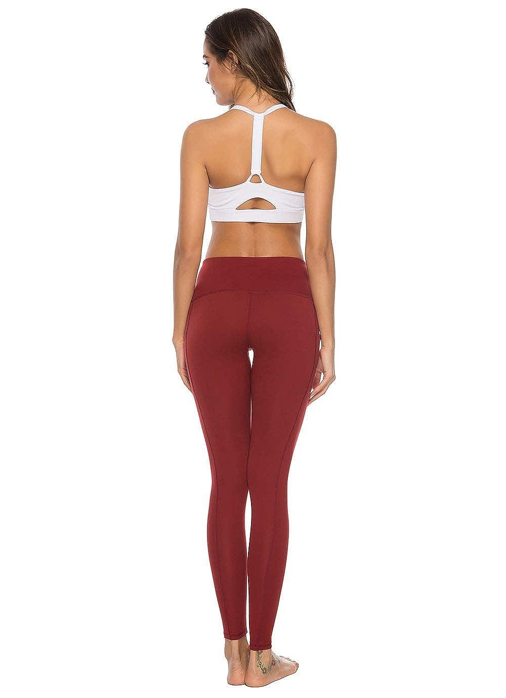 Mint Lilac Women/'s High Waist Tummy Control Yoga Pants Full-Length Workout Leggings