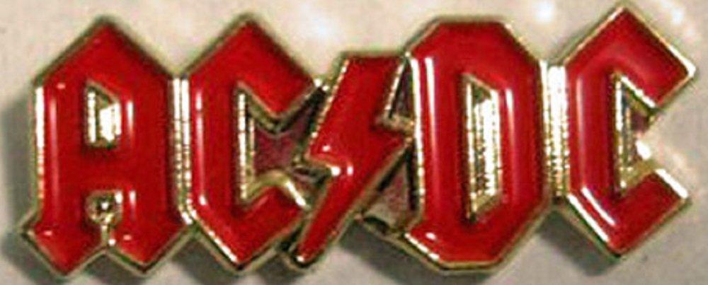 Broche en métal émaillé Motif Heavy Metal Music Rock ACDC A.C.D.C. Mainly Metal