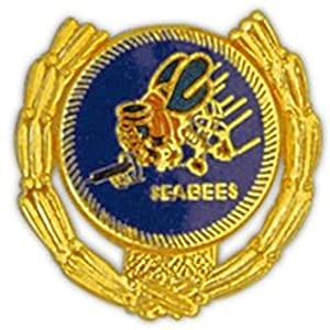 Seabees Wreath Small Pin
