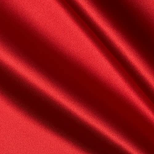 Fabric By The Yard 5860 Width Bridal Satin Fabric Red Satin Fabric
