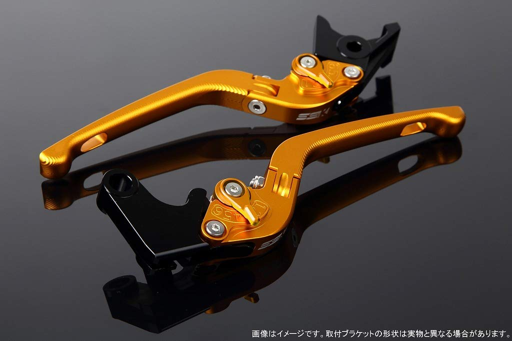 SSK アジャストレバー 3D可倒式 レバー本体カラー:マットゴールド アジャスターカラー:マットゴールド LVDM035GD-GD B07MX86LBJ