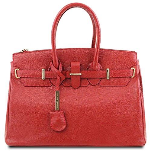 Muchos Tipos De Navegar Libera El Envío Tuscany Leather TL Bag Borsa a mano media con accessori oro Blu scuro Rosso Lipstick Falso En Línea Mejor Línea Barata tBMMJKr