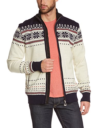 Dale of Norway Ulriken Jacket WP - Chaqueta para Hombre (Off White/Navy/Red Rose)