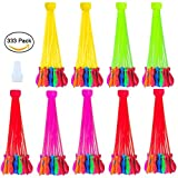 Water Balloons - Meland 9 Bunch Balloons 333 Instant Water Bomb Balloons Fight Games for Kids and Adults Summer Outdoor - 3 Pack Mixed Color