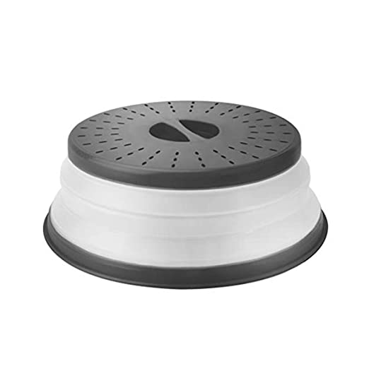 Cubierta para plato de microondas de 10,5 pulgadas con tapa plegable para plato de alimentos – libre de BPA, tapa protectora para placa