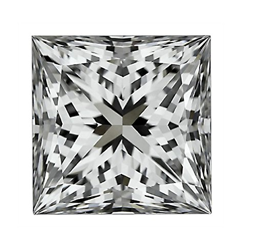 GIA Certified Princess Cut Natural Loose Diamond 1.56 Carat E Color SI2 Clarity - 1.5 Ct by Houston Diamond District