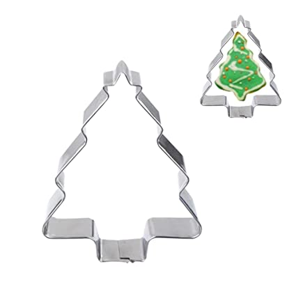 Pinzhi® Durable Tamiz Acero Inoxidable Árbol de Navidad molde muñeco de nieve cortador de galletas