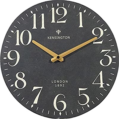 NIKKY HOME Silent Quartz Analog Round Wall Clock x 12'' - Handcrafted of wooden MDF, printed face Item dimession: 12 inches Requires one AA battery (not included) - wall-clocks, living-room-decor, living-room - 51fgYTDQkML. SS400  -
