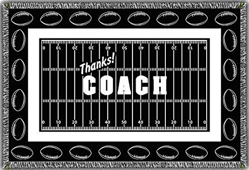 Football – Thanks Coach – Afghan Blanket – Personalizable B00WFZQB6K