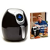 Air Fryer XL 5.3 QT Black Deluxe with Power Air Frying Hardcover Cookbook by Eric Theiss For Sale