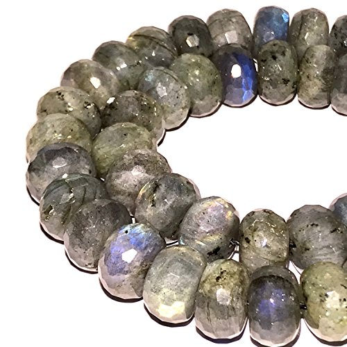 Brazilian Agate Bead ([ABCgems] Brazilian Labradorite 12mm Faceted Rondelle Beads)