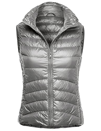 Ultra Light Packable Down Parka Vest Jackets 120-Grey US S