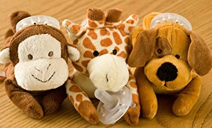 Amazon.com: pacimals Brody el oso Huggable Chupete: Baby