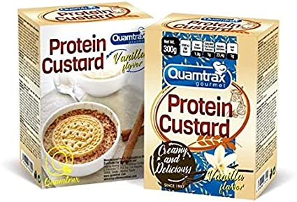 Quamtrax Gourmet Protein Custard 6 x 50 g. Vainilla: Amazon.es