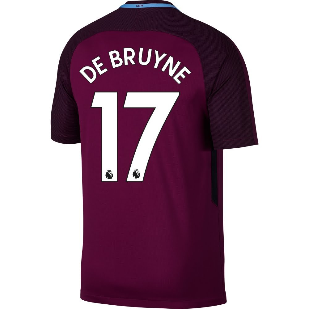 new product 3a818 81d90 Amazon.com : Nike Manchester City Away De Bruyne Jersey 2017 ...