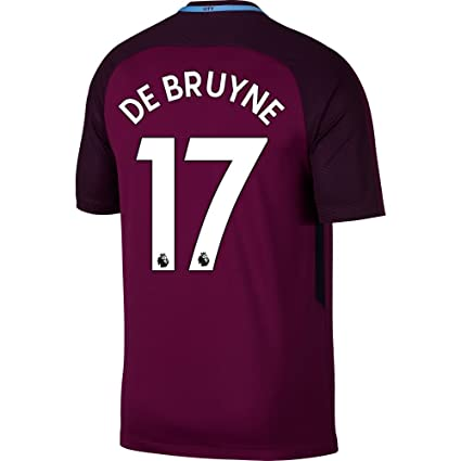 Manchester City Away De Bruyne Jersey 2017   2018 (Authentic EPL Printing)  - S 8085637ad9b2