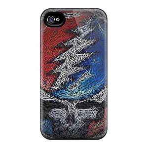 Protector Hard Phone Cover For Iphone 4/4s With Provide Private Custom Attractive Grateful Dead Image Marycase88