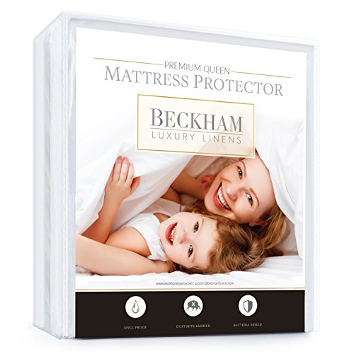 Beckham Hotel Collection Mattress Protector – Best Lab Tested Premium Waterproof, Hypoallergenic - Mattress Protector & Cover - Includes - Queen - Pet Dander Mattress Cover