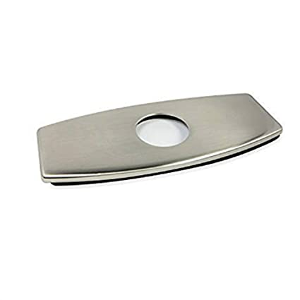 Friho Stainless Steel Brushed Nickel Bathroom Sink Hole Faucet Cover Deck  Plate Escutcheon,Brushed Nickel