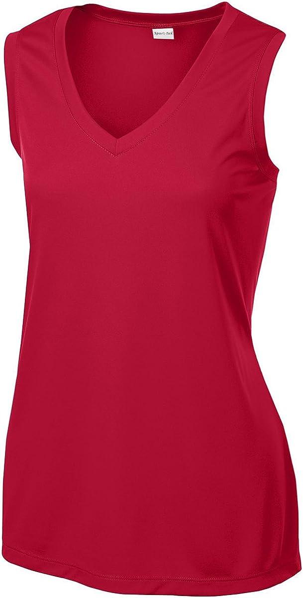 Sport-Tek Women's Sleeveless PosiCharge Competitor V Neck Tee at  Women's Clothing store