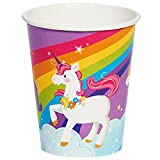 BirthdayExpress Fairytale Unicorn Party Supplies - 90z Paper Cups