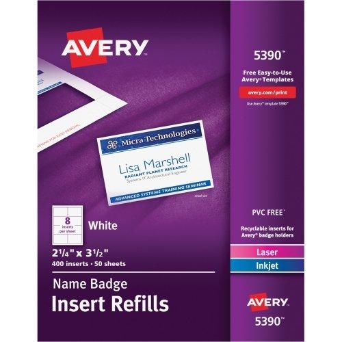Avery Plain Insert Badge Refill (5390) ()