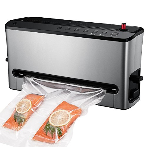 HoLife Vacuum Sealer, Food Sealer 8 Mode Sealer Built-In Bag Roll Storage & Cutter, Food Vacuum Saver