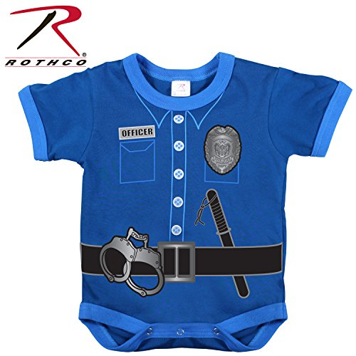 Rothco Infant Police Uniform One Piece, Navy, 3-6 Months -