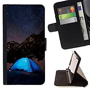 For HTC Desire 626 & 626s Night Sky & Stars Mountains Style PU Leather Case Wallet Flip Stand Flap Closure Cover