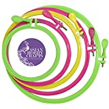 Asian Hobby Crafts Plastic Embroidery Hoop Ring Frame (5 Pieces)