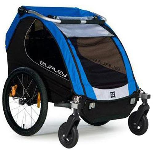 Burley 942303KT Encore Trailer with 2-Wheel Stroller Kit - Blue