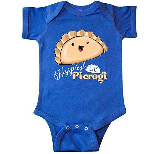 (inktastic - Happiest Lil' Pierogi Infant Creeper 6 Months Royal Blue 2b82c)