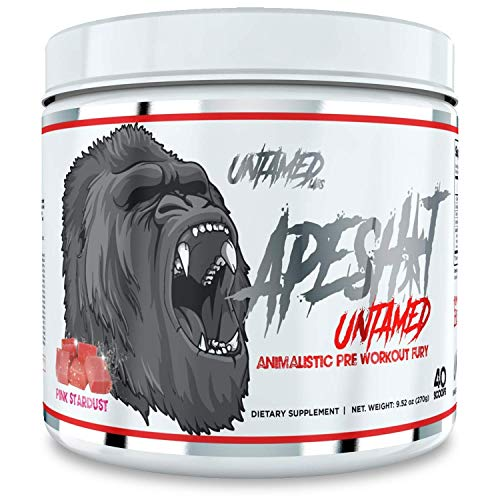 Untamed Labs Ape Sh*t, Pre-Workout Supplement, Immediate and Sustained Energy, Increased Performance and Endurance, Elevated Nitric Oxide Production, Pink Stardust, 40 Scoops