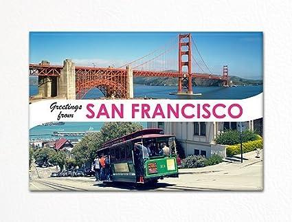Amazon greetings from san francisco souvenir photo fridge greetings from san francisco souvenir photo fridge magnet m4hsunfo