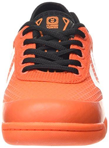 Hummel HUMMEL ROOT PLAY LACE JR - Zapatillas deportivas para interior de material sintético Niños^Niñas naranja - Orange (Cherry Tomato 5086)