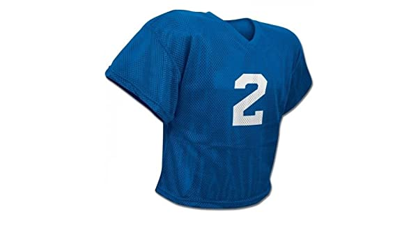 1344d0b0d Amazon.com   CHAMPRO New FJ2 Poly Mesh Waist Length Football Youth Adult Practice  Jersey Royal   Sports   Outdoors