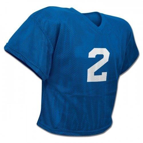 CHAMPRO FJ2 Poly Mesh Waist Length Football Adult Practice Jersey Blue (AS/M)
