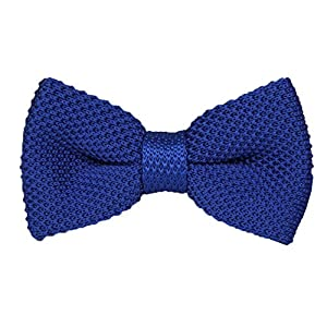 Secdtie Men Big Boy Knitted Bow Tie Vintage Pre-tie Double Layers Wedding Bowtie