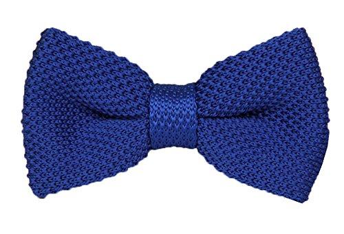 Secdtie Men Big Boy Knitted Bow Tie Vintage Pre-tie Double Layers Wedding Bowtie