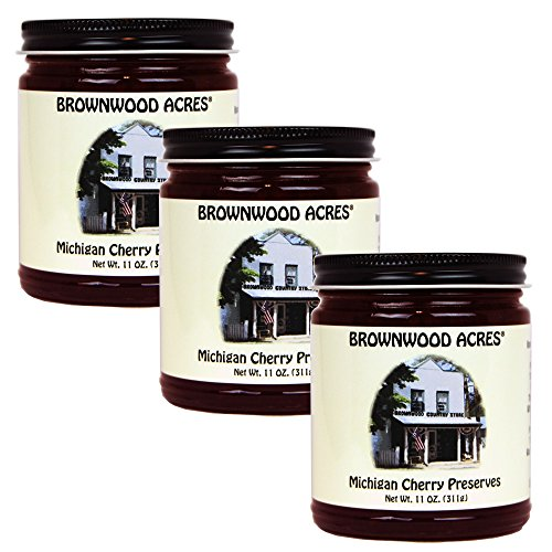 Brownwood Acres Michigan Cherry Preserves - 3 PACK - Shipping Included by Brownwood Acres