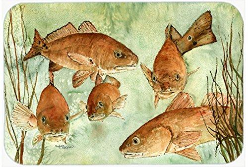Multicolor Carolines Treasures 8983CMTRed Fish Swim Kitchen or Bath Mat 20 H x 30 W